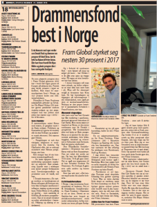 Fram best i norge - utklipp artikkel side 1